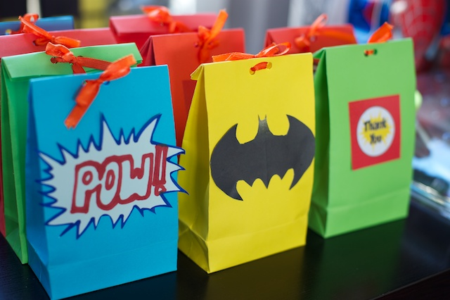 a super hero goodey bags