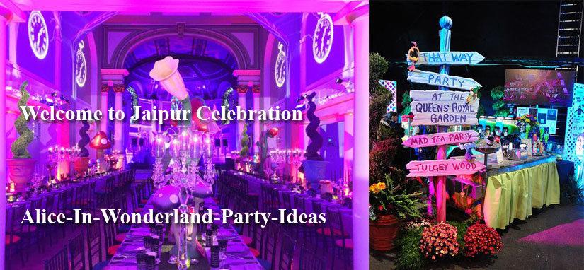 alice in wonderland theme party in jaipur