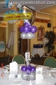 helium gas centre table decor